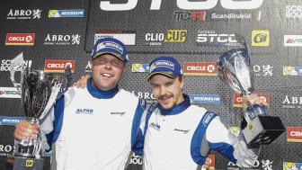 Erik Behrens (till vänster) gör comeback i Swedish GT.