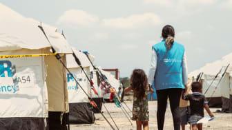 Die SOS-Kinderdörfer in Kolumbien unterstützen Kinder aus Venezuela im Flüchtlingscamp La Guajira mit Freizeitaktivitäten und psychologischer Begleitung. Foto: Alejandra Kaiser 2019 (Bild nur zur Verwendung im Kontext der SOS-Kinderdörfer weltweit)