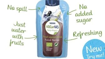 Nestlé lanserer NaturNes økologisk fruktdrikk - naturlig vann med en dråpe fruktpuré