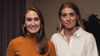 Linnea Eriksson och Therese Svensk, PURE ACT, är glada över att ta emot ÅForsk Entreprenörsstipendium.