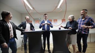 Gabriel Wikström invigde Minds självmordslinje