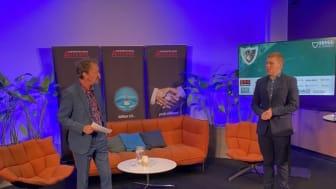 Moderator Lennart Ekdal och Projektledare Erik Martinsson inleder dagarna.