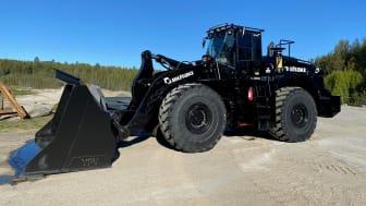 Leverans av Komatsu WA500-8 Stone Handler till Bilfrakt Bothnia AB.