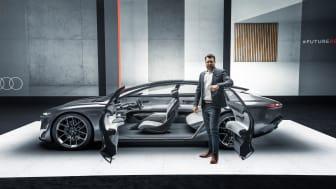 Audi grandsphere concept og Oliver Hoffmann (Head of Technical Development)