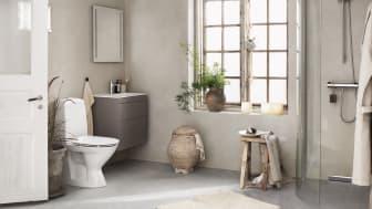 Ifö Rimfree, toalett utan spolkant.