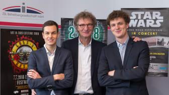 Die neue Geschäftsführung der ZSL: Philipp Franke, Prof. Dr. Michael Kölmel und Matthias Kölmel (v.l.)