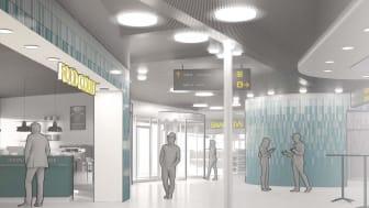 Stationsbyggnaden i Flemingsberg ska moderniseras med ett utökat utbud av service och butiker