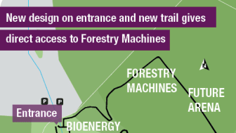 New entrance and trail - Elmia Wood