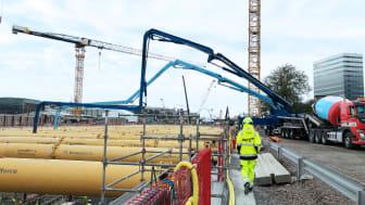 Thomas Betong levererar klimatförbättrad betong till Centralen, Västlänken