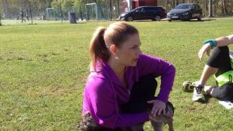 Stretching för hund