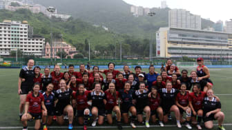 Northumbria University Women's Rugby 1st Team with Hong Kong national squad