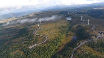 Hitra 2 vindpark, sommeren 2019