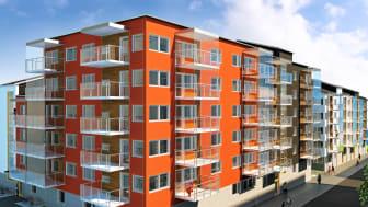 Brf Viktoriastrand 2 i Skellefteå kom på andra plats på listan över Sveriges bästa bostadsprojekt.