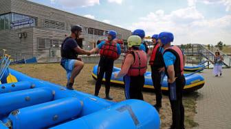 Kanupark Markkleeberg - Einweisung vor dem Wildwasser-Rafting