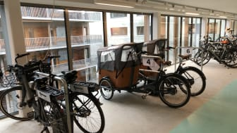 cykelgarage brf Viva Göteborg