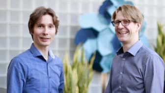 Janne Argillander, CEO and co-founder, with Marcus Dobrinkat, co-founder and CIO