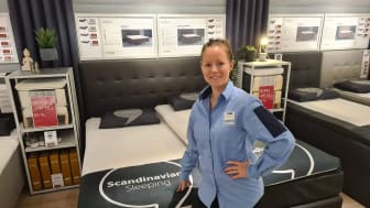 Catrin Mellberg, en förväntansfull butikschef inför nyöppnandet på torsdagen.