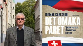 Kritikerrosad författare aktuell  med ny bok om tjeckernas och  slovakernas historia