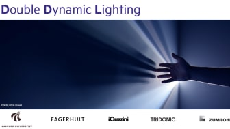 Double Dynamic lighting - new quality of light for work environments.