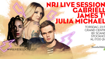 Gabrielle, Julia Michaels och James TW uppträder på NRJ Live Sessions nu på torsdag.
