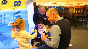 Celebrity patron meets children and families at therapy day centre