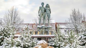Stortorget i Sölvesborg i vinterskrud