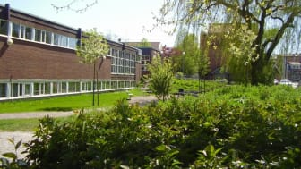 Kirsebergs fritids- och kulturhus på Kronetorpsgatan 1. Här kommer Malmö Stadsteater att spela årets familjeföreställning! Foto: Malmö Stad