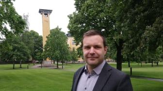Andreas Tilevik, kursansvarig för kursen där studenterna nu studerat modellering av smittspridning av covid-19. Foto: Högskolan i Skövde