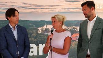 Fredrik Hulting, Mirja Herrdin och Johan Forsell