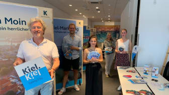 Uwe Wanger (links) und sein Team von Kiel-Marketing stellen ich vor
