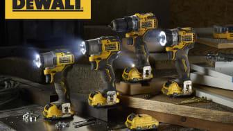 DEWALTs nya 12V XR verktyg är unik serie batteridrivna borr- och åtdragningsverktyg som är små, kompakta och kraftfulla!