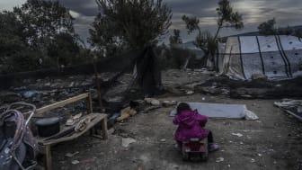 Vart fjärde barn som kommer till vår klinik på Lesbos visar tecken på självskadebeteende. Foto: Anna Pantelia / Läkare Utan Gränser