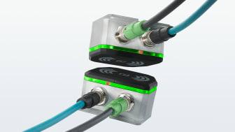 Trådlös överföring av Ethernet 100 Mbit och 24VDC matning för t.ex robotverktyg