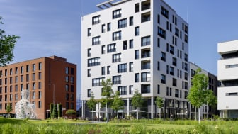 Das Hochhaus SKAIO in Heilbronn zeigt die Leistungsfähigkeit des Holzbaus (©Bernd Borchardt)
