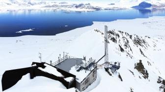 Årsmiddelverdien for CO2-konsentrasjonen i atmosfæren i fjor var på hele 411,9 ppm på Zeppelin på Svalbard. Det er 2,6 ppm høyere enn i 2018. Foto: Ove Hermansen, NILU
