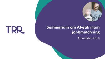 TNG och Tengai på Almedalen 2019: Seminarium om AI-etik inom jobbmatchning