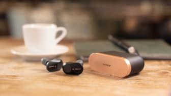 Os auriculares WF-1000XM3 da Sony