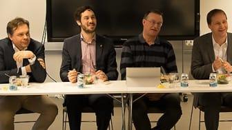 Patrik Fransson, Vitec, Johannes Hörnberg, CGI, och Sören Berglund, Umeå universitet,