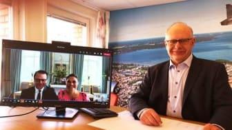 Lidköpings kommun fick digitalt besök av Kronprinsessparet
