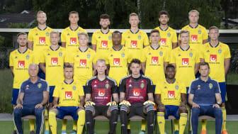 U-21 herrlandslag 2018. Källa: Svenska Fotbollförbundet