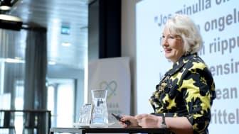 Sitran Liisa Hyssälä painottaa oikean kysymyksen merkitystä. Kuva: Super Otus