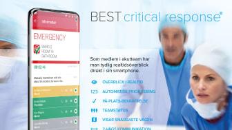Kritisk larmhantering i BESTmate smartphone app.