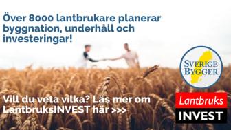 Över 8000 lantbrukare ska investera i maskiner, fordon, verktyg, utrustning, underhåll eller byggnation