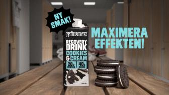 Gainomax Cookies & Cream smakar verkligen kakor och mjölk!