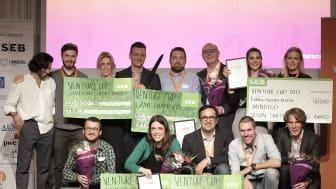 De 5 vinnande startupsen på Venture Cup Östs regionfinal 16 maj 2017, fotograf Victor Ackerheim