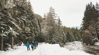 Eisläufer auf der Albula Skateline in Graubünden (c) Schweiz Tourismus, Fotograf Silvano Zeiter