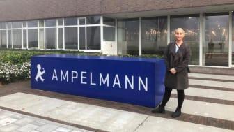 'Esvagt Froude's Ida Teglgaard er verdens første person in charge på Ampelmanns gangvejssystem.
