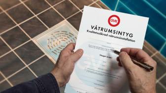 Enkelt och smidigt med färdiga dokumentmallar i GVKs kvalitetsapp. För- och egenkontroller samt våtrumsintyg - allt på samma ställe.