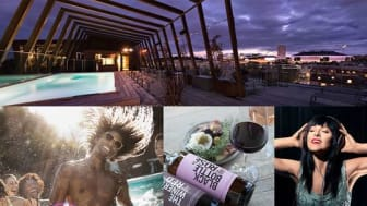 Winery Rooftop Terrace på The Winery Hotel - musik, vin, italiensk streetfood och sol
