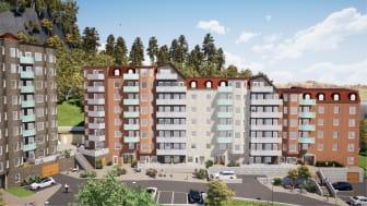 Betonmast Göteborg bygger 97 lägenheter i Fjällbo Park åt Västerstaden
